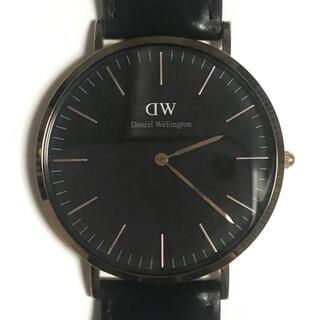 ダニエルウェリントン(Daniel Wellington)のダニエルウェリントン 腕時計 - E40R1 黒(その他)