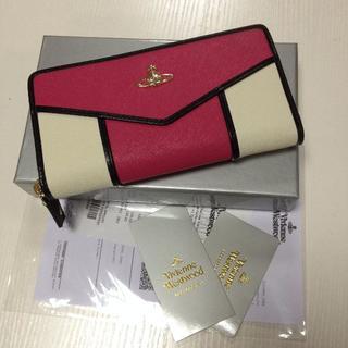 ヴィヴィアンウエストウッド(Vivienne Westwood)の新品ヴィヴィアンウエストウッド長財布ピンクとホワイト(財布)