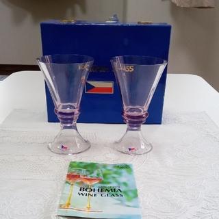 ボヘミア クリスタル(BOHEMIA Cristal)のボヘミア ワイン&ジャパングラス 〈未使用〉(グラス/カップ)
