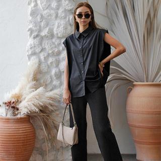 ルームサンマルロクコンテンポラリー(room306 CONTEMPORARY)のMesh Design Straight Pants ブラックS(カジュアルパンツ)