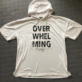 ウィゴー(WEGO)のオーバーサイズ 白 パーカー Tシャツ WEGO(Tシャツ/カットソー(半袖/袖なし))