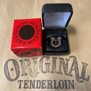 テンダーロイン(TENDERLOIN)の人気品! TENDERLOIN ホースシューリング シルバー925 ダイヤ 9(リング(指輪))