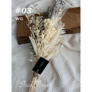 #03 WG スワッグ テールリード ドライフラワー 韓国 セミブーケ  50(ドライフラワー)