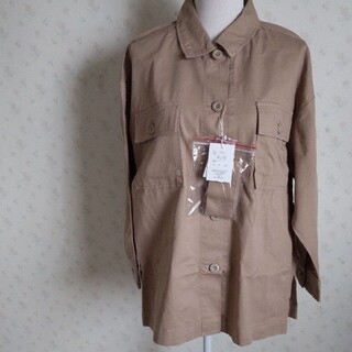 グレイル(GRL)の新品未使用 GRLベージュ長袖シャツ(シャツ)
