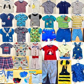 ユニクロ(UNIQLO)の④まとめ売り80 洋服 セット 男の子 保育園 出産準備(その他)