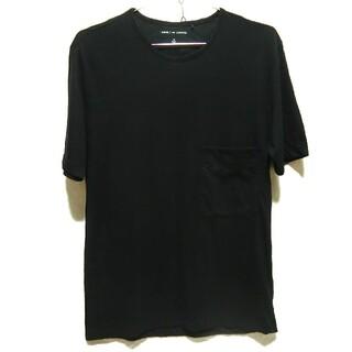 ルメール(LEMAIRE)のUNIQLOandLEMAIRE 半袖 Tシャツ ポケット付き 胸ポケット 黒 (Tシャツ/カットソー(半袖/袖なし))