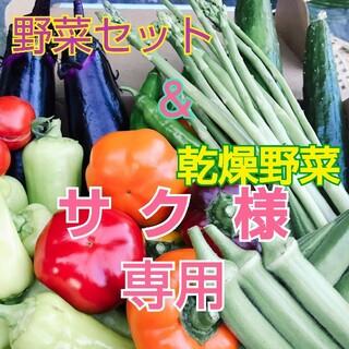 新鮮野菜 60サイズいっぱいの野菜と乾燥野菜のセット  (野菜)