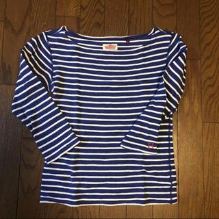 ハリウッドランチマーケット(HOLLYWOOD RANCH MARKET)のHR MARKET  7分袖ボーダーボートネックTシャツ(Tシャツ(長袖/七分))