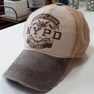 【新品】Xthree NYPD ヴィンテージ調 キャップ(YB)(キャップ)