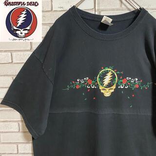 90s 古着 グレイトフル・デッド バンドT XL ビッグシルエット ゆるだぼ(Tシャツ/カットソー(半袖/袖なし))