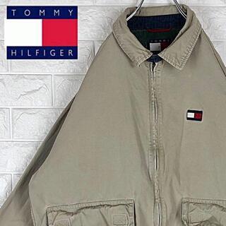 TOMMY HILFIGER - トミーヒルフィガー ワンポイントロゴ スウィングトップ ブルゾンジャケット90s
