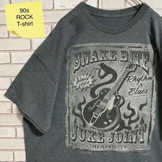 90s 古着 スネークバイト バンドT 2XL バックプリント ゆるだぼ(Tシャツ/カットソー(半袖/袖なし))