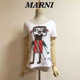 マルニ(Marni)のMARNI  お絵描きプリントTシャツ(Tシャツ(半袖/袖なし))