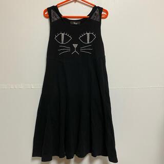 ユニカ(UNICA)の美品♡UNICA ユニカ 猫 ワンピース 110 ねこ(ワンピース)