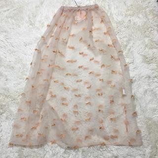 ミキオサカベ(MIKIO SAKABE)のmikio sakabe シースルースカート(ロングスカート)