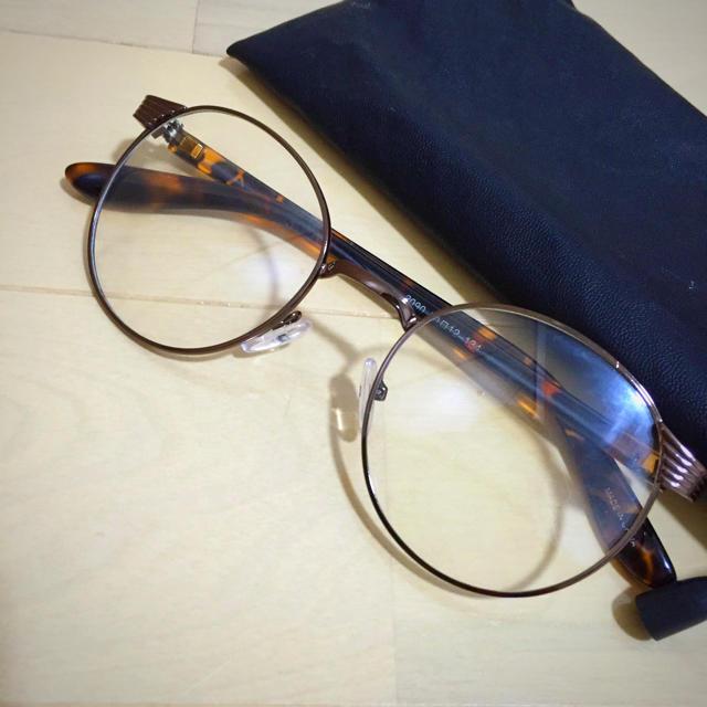 flower(フラワー)のflower 伊達眼鏡 ブラウン レディースのファッション小物(サングラス/メガネ)の商品写真