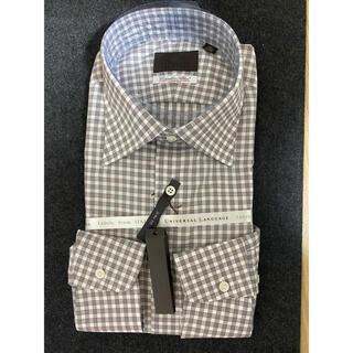 スーツカンパニー(THE SUIT COMPANY)のユニバーサルランゲージ ブラウンチェックシャツ 未使用新品(シャツ)