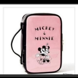 ディズニー(Disney)のミッキー&ミニードレッサーポーチ(メイクボックス)
