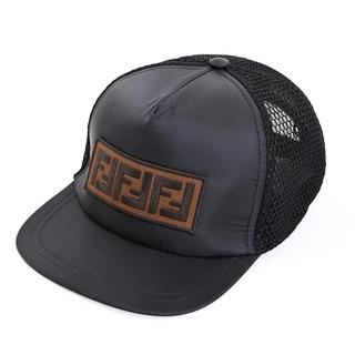 フェンディ(FENDI)の新品★フェンディ ロゴキャップ レディース キッズ 夏 ブラック(帽子)