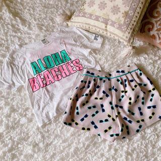 デイシー(deicy)のPINK Tシャツ&deicy サングラス柄ショートパンツ セット コーデ(セット/コーデ)