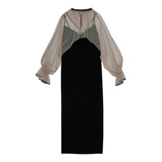 アメリヴィンテージ(Ameri VINTAGE)のMANY WAY TULLE VEIL DRESS(ロングドレス)