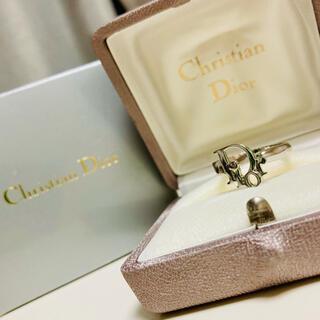 クリスチャンディオール(Christian Dior)のサイズ調節可能‼️クリスチャンディオール 💙 ヴィンテージ ロゴリング(リング(指輪))