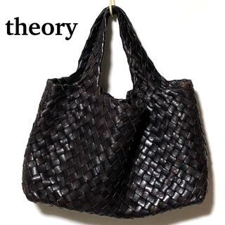 セオリー(theory)のtheory イントレチャート レザートートバッグ/セオリー メッシュ 編込み(トートバッグ)