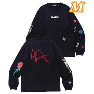 エクストララージ(XLARGE)の新品 XLARGE LEX tシャツ L/S TEE LEXLARGE ブラック(Tシャツ/カットソー(七分/長袖))