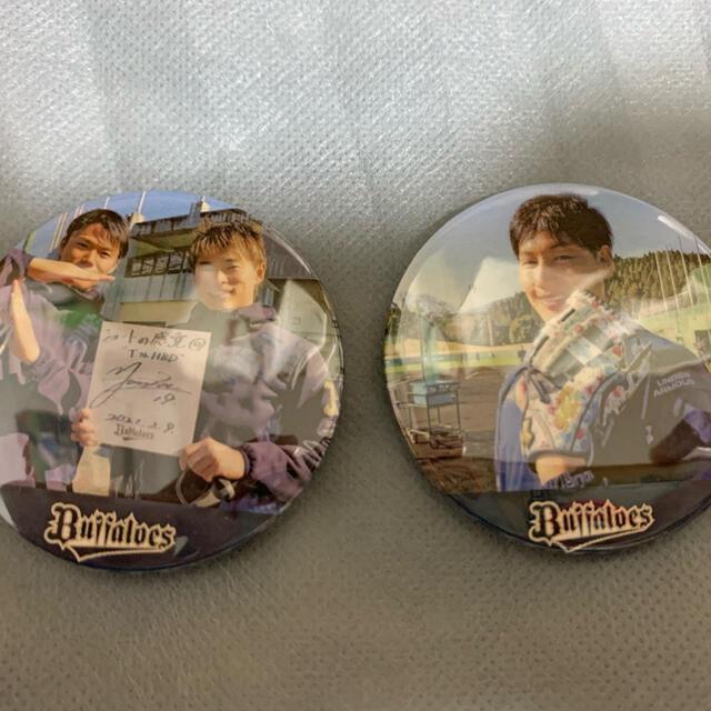 オリックス・バファローズ(オリックスバファローズ)のオリックス・バファローズ シークレット缶バッジ スポーツ/アウトドアの野球(記念品/関連グッズ)の商品写真