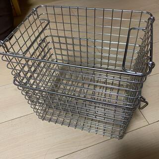 ムジルシリョウヒン(MUJI (無印良品))の無印 ステンレスワイヤーバスケット1 2点セット(バスケット/かご)