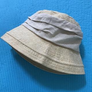 プラージュ(Plage)の切替ドレープ付きエッジアップハット 帽子(ハット)