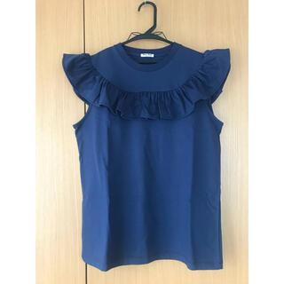 ミュウミュウ(miumiu)のmiu miu フリル トップス ノースリーブ(Tシャツ(半袖/袖なし))