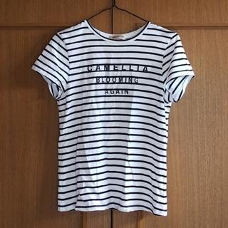 アプワイザーリッシェ(Apuweiser-riche)のアプワイザーリッシェ ボーダーロゴTシャツ(Tシャツ(半袖/袖なし))