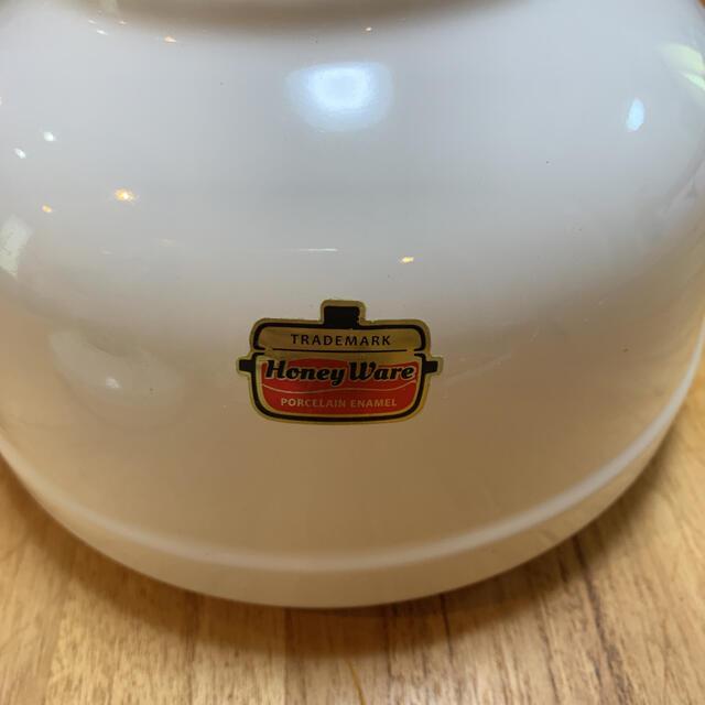 富士ホーロー(フジホーロー)のHoney Ware ケトル インテリア/住まい/日用品のキッチン/食器(調理道具/製菓道具)の商品写真