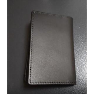 ムジルシリョウヒン(MUJI (無印良品))の無印良品 イタリア産ヌメ革 カードケース 黒 ブラック(名刺入れ/定期入れ)