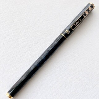 BURBERRY - BURBERRY  ボールペン ネイビーマーブル柄