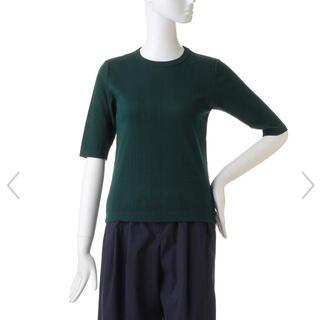 エンフォルド(ENFOLD)の未使用品❗️エンフォルド ランダムテレコ5部袖Tシャツ ダークグリーン(Tシャツ(半袖/袖なし))