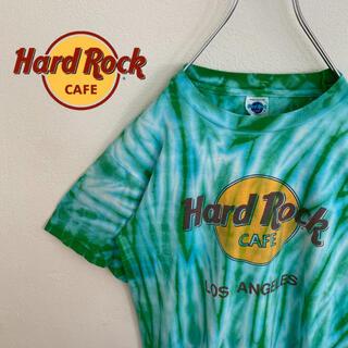 ロックハード(ROCK HARD)の【HardRockCafe】ハードロックカフェ ロゴ入りTシャツ タイダイ レア(Tシャツ/カットソー(半袖/袖なし))