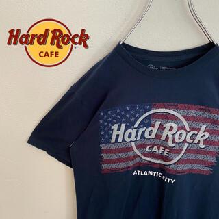ロックハード(ROCK HARD)の【HardRockCafe】ハードロックカフェ ロゴ入りTシャツ レア  紺色(Tシャツ/カットソー(半袖/袖なし))