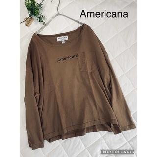 アメリカーナ(AMERICANA)の★専用です★   アメリカーナ Americana  ビッグシルエットTシャツ(Tシャツ(長袖/七分))