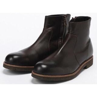 パドローネ(PADRONE)の新品 PADRONE パドローネ サイドジップブーツ ブラウン 41(ブーツ)