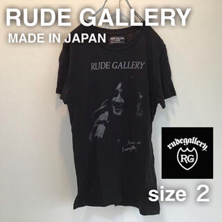 ルードギャラリー(RUDE GALLERY)のRUDE GALLERY ルードギャラリー Tシャツ 2 S ブラック 黒 人物(Tシャツ/カットソー(半袖/袖なし))