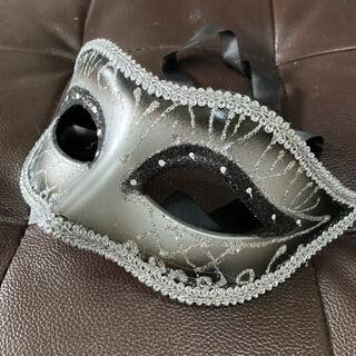 コスプレ仮面 ブラックシルバー 未使用品(衣装一式)