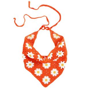 ボヘミアンフラワー三角巾❤️🌷花柄(帽子)