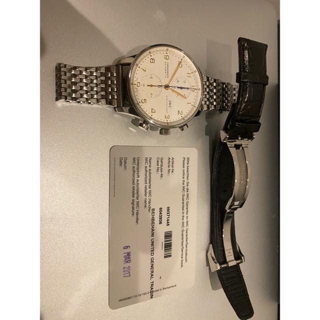 IWC(インターナショナルウォッチカンパニー)の【ナガマツ様専用】IWC ポルトギーゼ クロノグラフ金針 メンズの時計(腕時計(アナログ))の商品写真