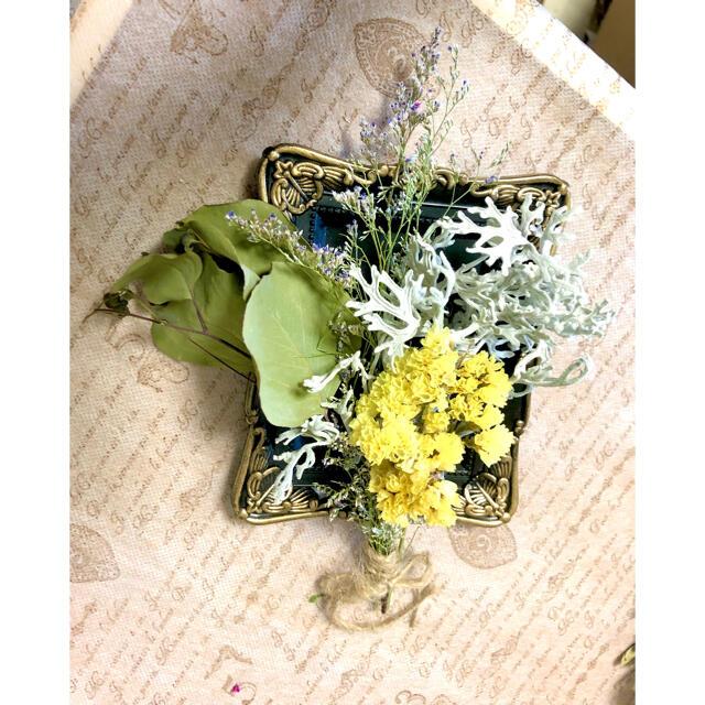ナチュラルドライフラワー 0822-2 スターチスやシルバーレースのスワッグ  ハンドメイドのフラワー/ガーデン(ドライフラワー)の商品写真