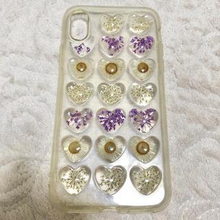 フランフラン(Francfranc)のiPhoneX カバー 花 押し花 シリコンケース iphoneカバー(iPhoneケース)