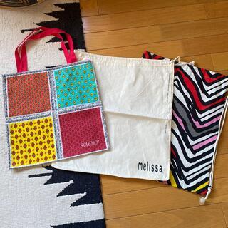 イケア(IKEA)のIKEA Melissa soleiardo 巾着バッグ3枚(バッグ)