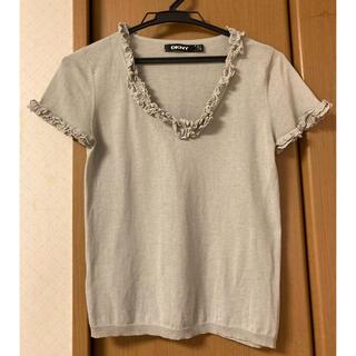 ダナキャランニューヨーク(DKNY)のダナキャラン サマーニット グレー(Tシャツ(半袖/袖なし))