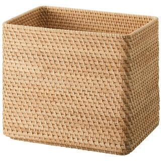 ムジルシリョウヒン(MUJI (無印良品))の無印良品 ラタンボックス 美品(バスケット/かご)